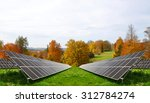 Solar Energy Panels In Autumnal ...
