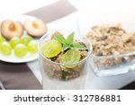 detail of glass with grapes ... | Shutterstock . vector #312786881