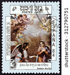 laos   circa 1984  a stamp... | Shutterstock . vector #312790751