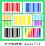 Bright Bar Codes On Green...