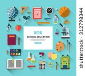school education vector... | Shutterstock .eps vector #312798344