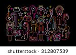cocktail party vector... | Shutterstock .eps vector #312807539