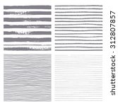 brush stripes vector seamless... | Shutterstock .eps vector #312807857