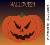 isolated jack o' lantern on a... | Shutterstock .eps vector #312820895