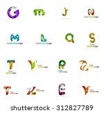 set of colorful abstract letter ... | Shutterstock .eps vector #312827789