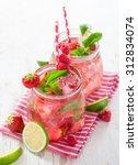 glasses of fresh home made ... | Shutterstock . vector #312834074