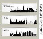city skylines banners   vector... | Shutterstock .eps vector #312836819
