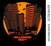 vector halloween background | Shutterstock .eps vector #312838439
