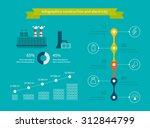 flat design concept... | Shutterstock . vector #312844799