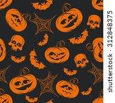 halloween funny decorative... | Shutterstock .eps vector #312848375