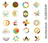 abstract logos and icons | Shutterstock .eps vector #312854549