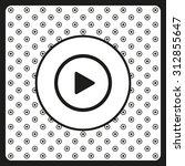 play. icon. vector design | Shutterstock .eps vector #312855647