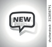 curved chat bubble with text...