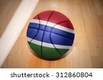 basketball ball with the... | Shutterstock . vector #312860804