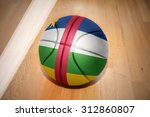 basketball ball with the... | Shutterstock . vector #312860807
