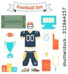 American Football Icons Set ...