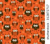 halloween owls | Shutterstock .eps vector #312872717