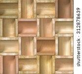 3d wooden pattern  seamless | Shutterstock . vector #312878639