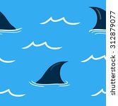 ocean concept   blue seamless... | Shutterstock .eps vector #312879077