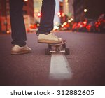 wide angle shot of a guy... | Shutterstock . vector #312882605