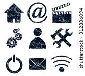 home  internet icons set ...