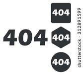 404 icon set  monochrome ...