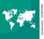 world map illustration | Shutterstock .eps vector #312894389