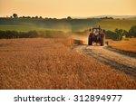 tractor is going trough... | Shutterstock . vector #312894977