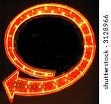 retro neon arrow sign | Shutterstock . vector #3128966