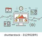 vector concept of website... | Shutterstock .eps vector #312902891