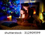 young mother and her daughter... | Shutterstock . vector #312909599