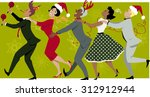 diverse group of people dressed ... | Shutterstock .eps vector #312912944