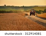 tractor is going trough... | Shutterstock . vector #312914081