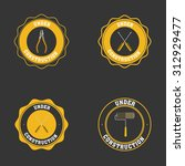 set of under construction icons ... | Shutterstock .eps vector #312929477