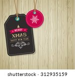 christmas sale  gift tags and... | Shutterstock .eps vector #312935159