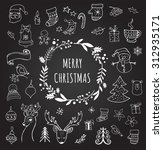 merry christmas   doodle xmas... | Shutterstock .eps vector #312935171