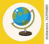 classroom globe theme elements... | Shutterstock .eps vector #312950885