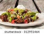 Taco Salad On An Antique...