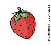 fruits strawberry doodle | Shutterstock .eps vector #312952265