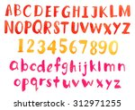 water color alphabet and number ... | Shutterstock . vector #312971255