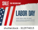 labor day. sale | Shutterstock .eps vector #312974015