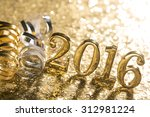 new year decoration closeup on... | Shutterstock . vector #312981224
