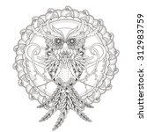 Gorgeous Owl Coloring Page In...