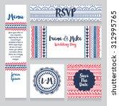 set of wedding design in boho...   Shutterstock .eps vector #312995765