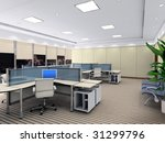 an office room with nobody. 3d... | Shutterstock . vector #31299796