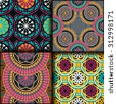 vector seamless pattern set... | Shutterstock .eps vector #312998171