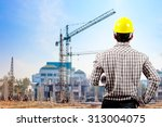 supervisor in protective safety ...   Shutterstock . vector #313004075