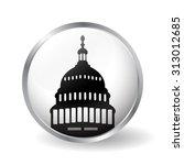 washington capitol button vector | Shutterstock .eps vector #313012685