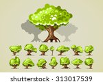 set of trees for video games