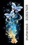 Transparent Flying Butterflies...